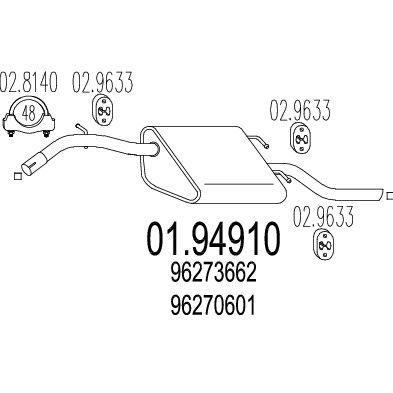 Izduvni Lonac Daewoo Nubira 97 1 6 16v Zadnji