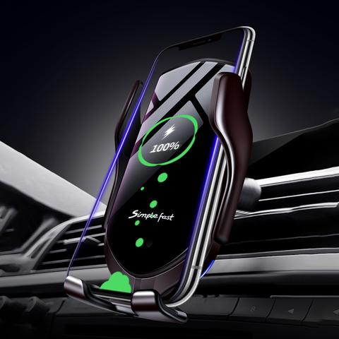 Pametno držalo z avtomatskim hitrim QI polnjenjem omogoča pametno polnjenje, ki zaščiti vaš mobilni telefon.
